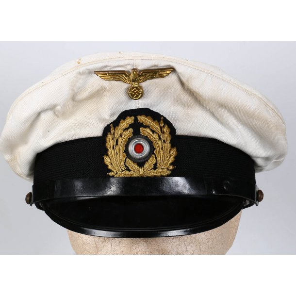 Kriegsmarine NCO's white top visor cap