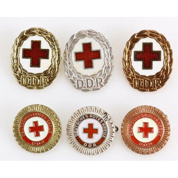 East German, DDR, Red Cross badges - full set