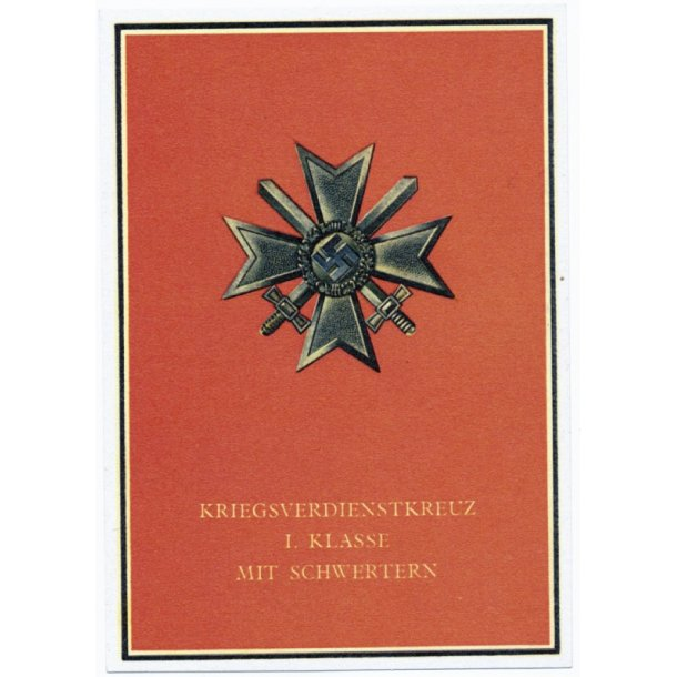 Propaganda postcard War merit cross 1 class
