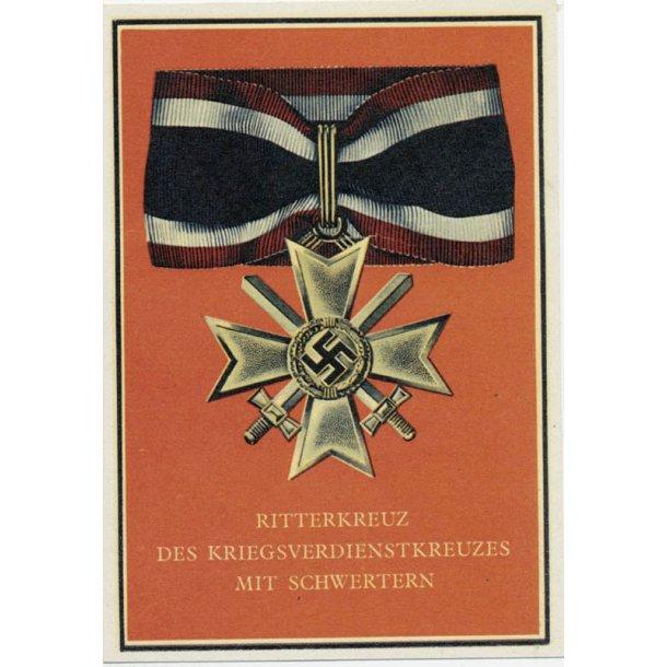 Propaganda postcard War merit cross Knights cross