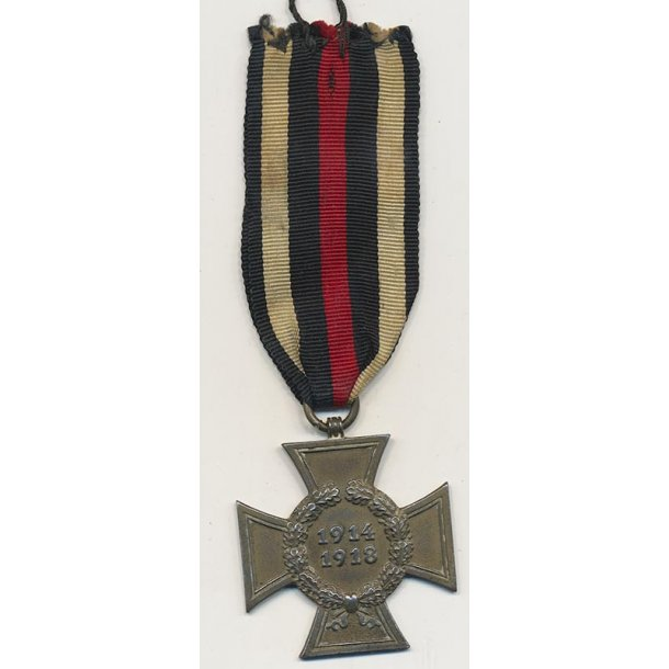 Hindenburg cross, for non Combatants 'W.K'