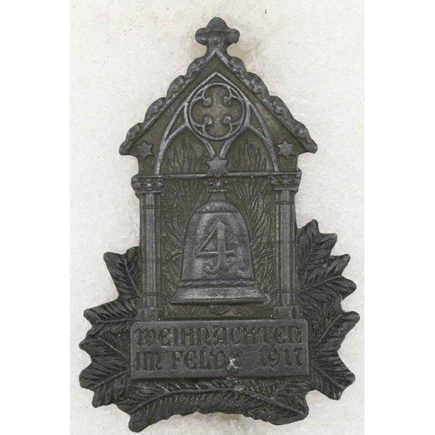Weihnachten Im Felde 1917 cap badge