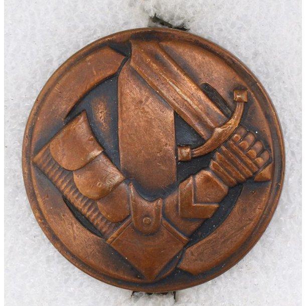 Finnish White guard third class badge in bronze