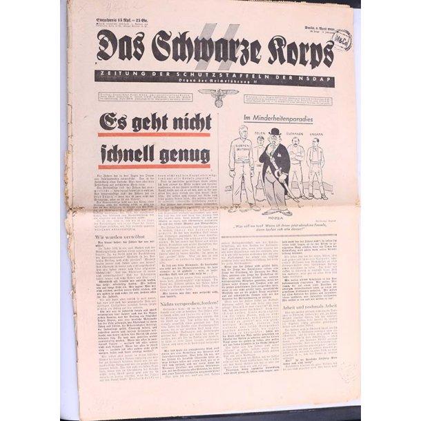 SS newspaper ''Das Schwarze Korps'' April 6 1938