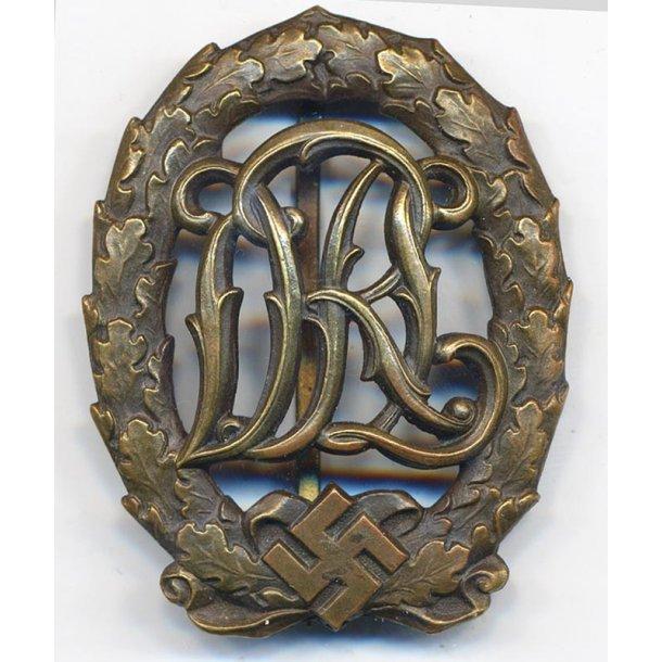 DRL sports badge in bronze 'L.Chr. Lauer'