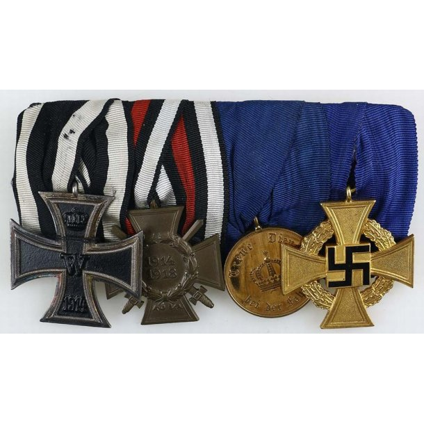 4-place imperial and WW2 medal bar