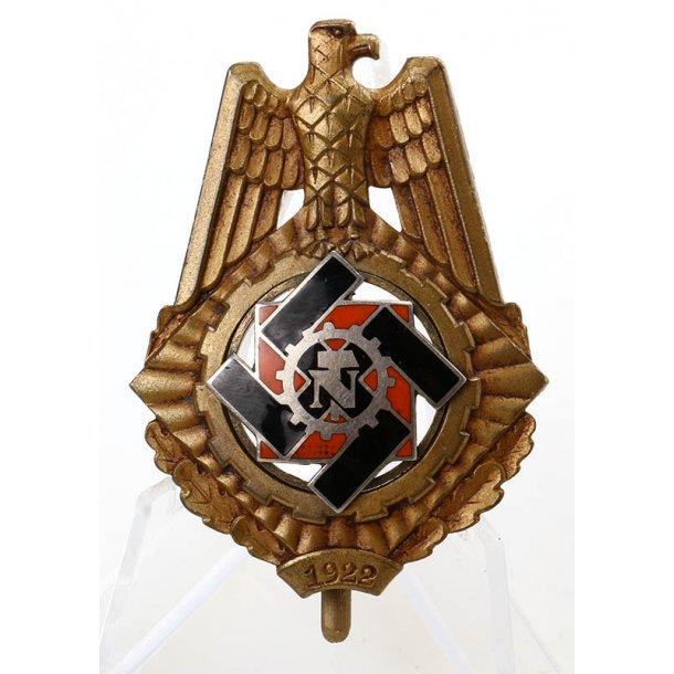 TENO Honor Badge for 1922 'Wilhelm Fühner'