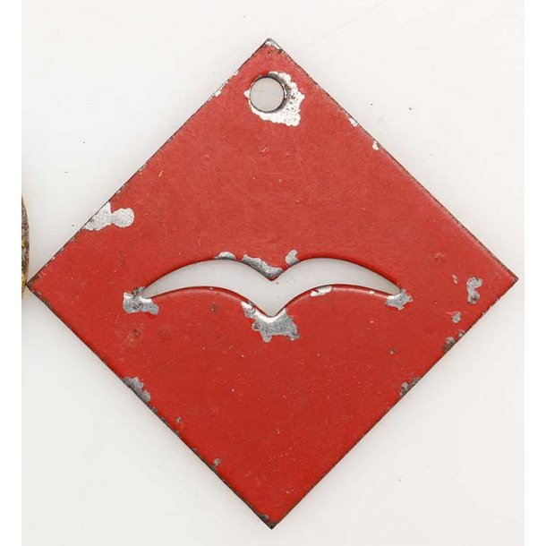 Luftwaffe cargo loading tag - Red