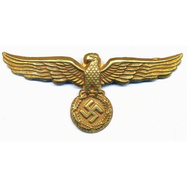 Water customs visor cap eagle in metal