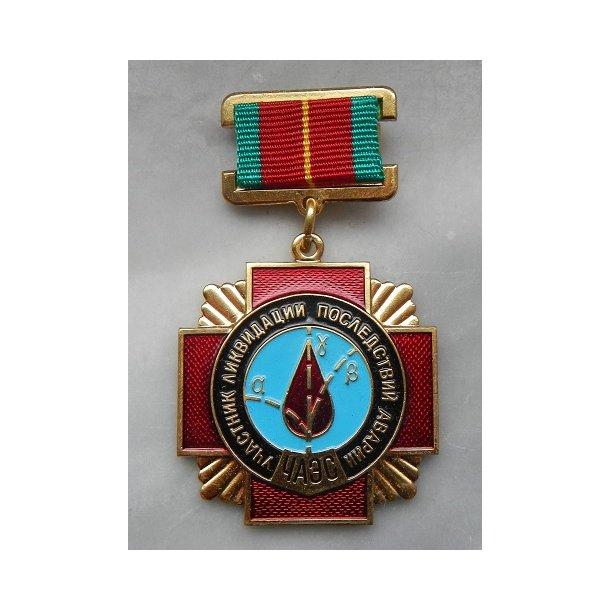 Medal for Chernobyl decontaminating
