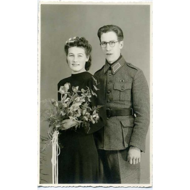 Finnish photo of a Soldier and his wife