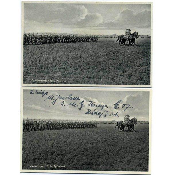 Parademarsch der Infanteri