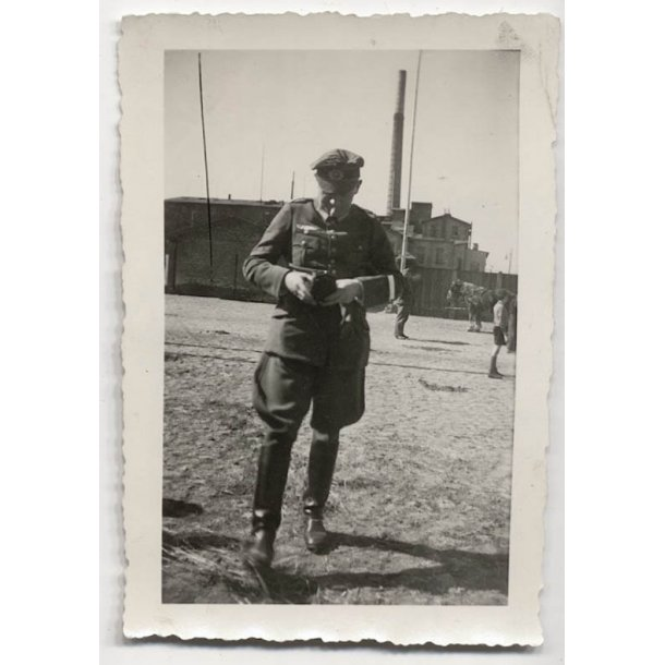 Wehrmacht Officer with a crusher cap