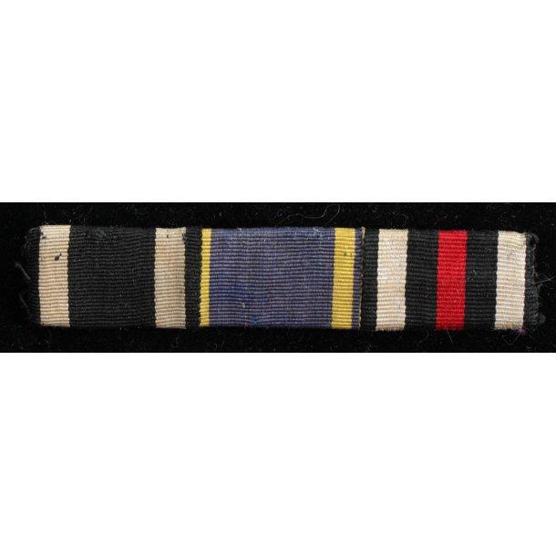 Iron cross, service medal & Hindenburg ribbon bar