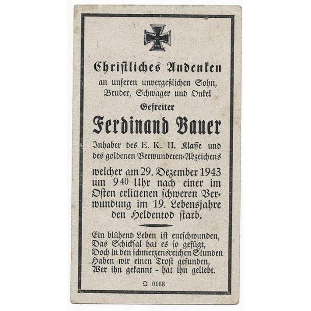 Death card - Ferdinand Bauer,