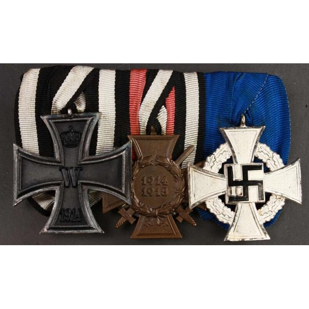 3-place Imperial/WW2 medal bar