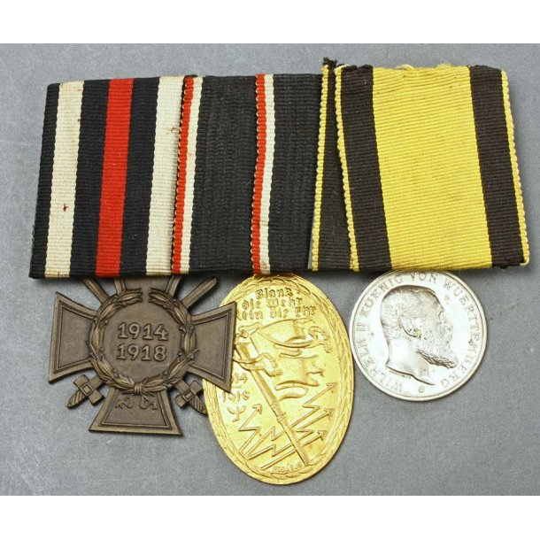 3-place imperial and WW2 medal bar