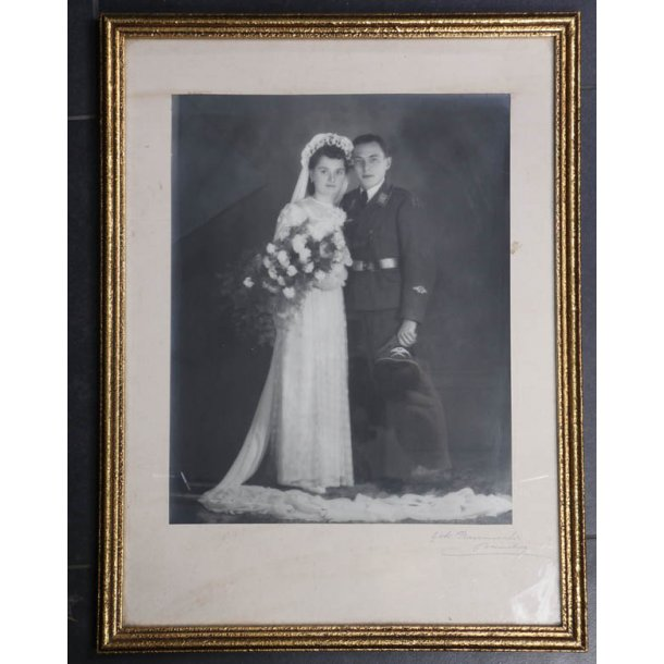 Luftwaffe soldier wedding photo -  Framed