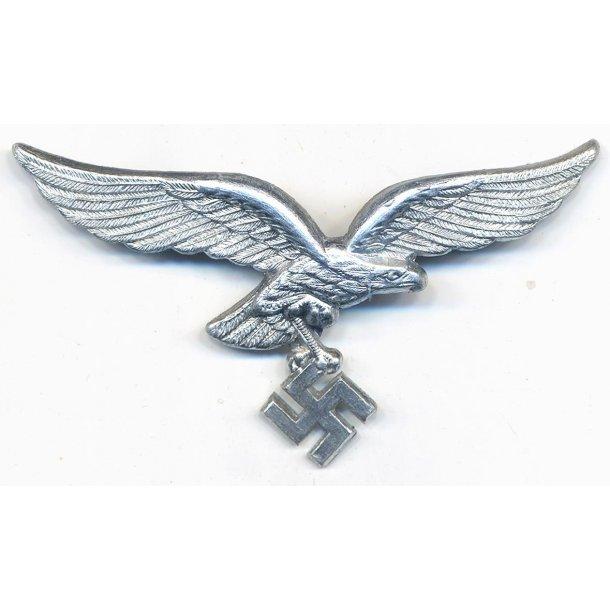 Luftwaffe EM/NCO's visor cap eagle in metal 'FLL'