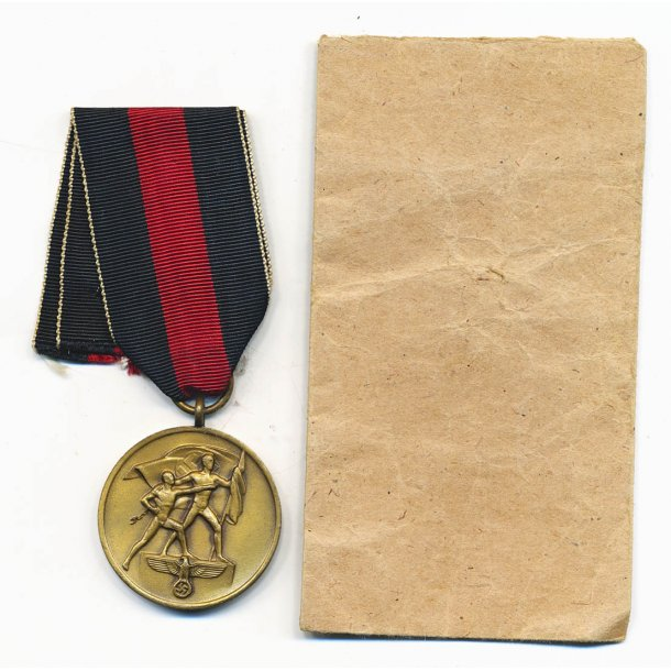 October 1 1938 Com. medal with bag of issue