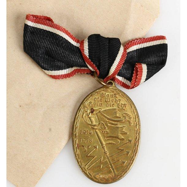 War Commemorative Medal 1914/1918 of the Kyffhäuser Union