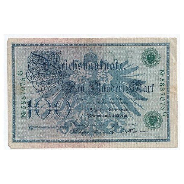 Reichsmark, 100 Mark 1908