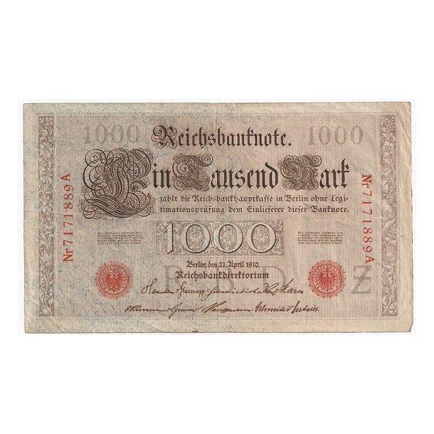 Reichsmark, 1000 Mark 1910