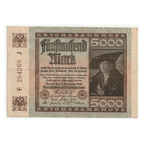 Reichsmark, 5000 Mark 1922