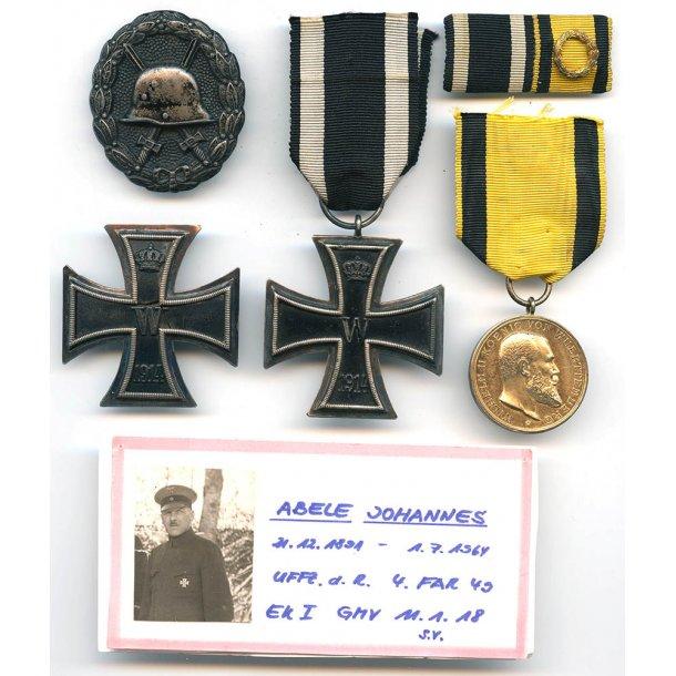 WW1 named medal group